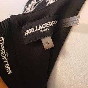 Karl Lagerfeld Dresses - Karl lagerfeld size 12 black white floral dress